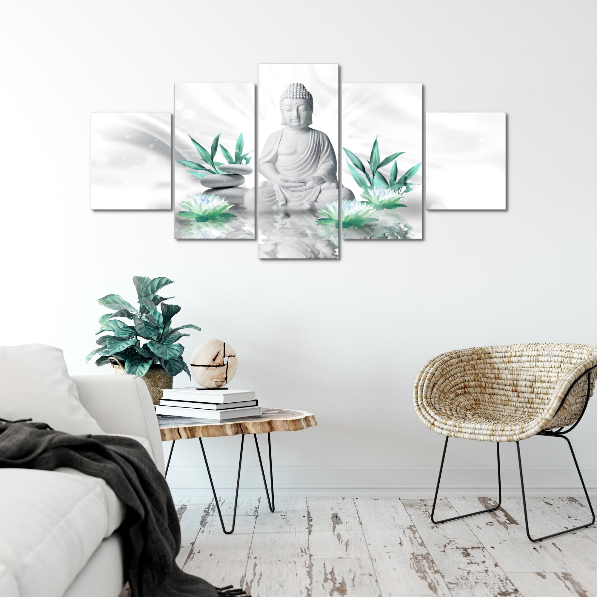 buddha feng shui bild kunstdruck auf vlies leinwand xxl dekoration 01165p. Black Bedroom Furniture Sets. Home Design Ideas