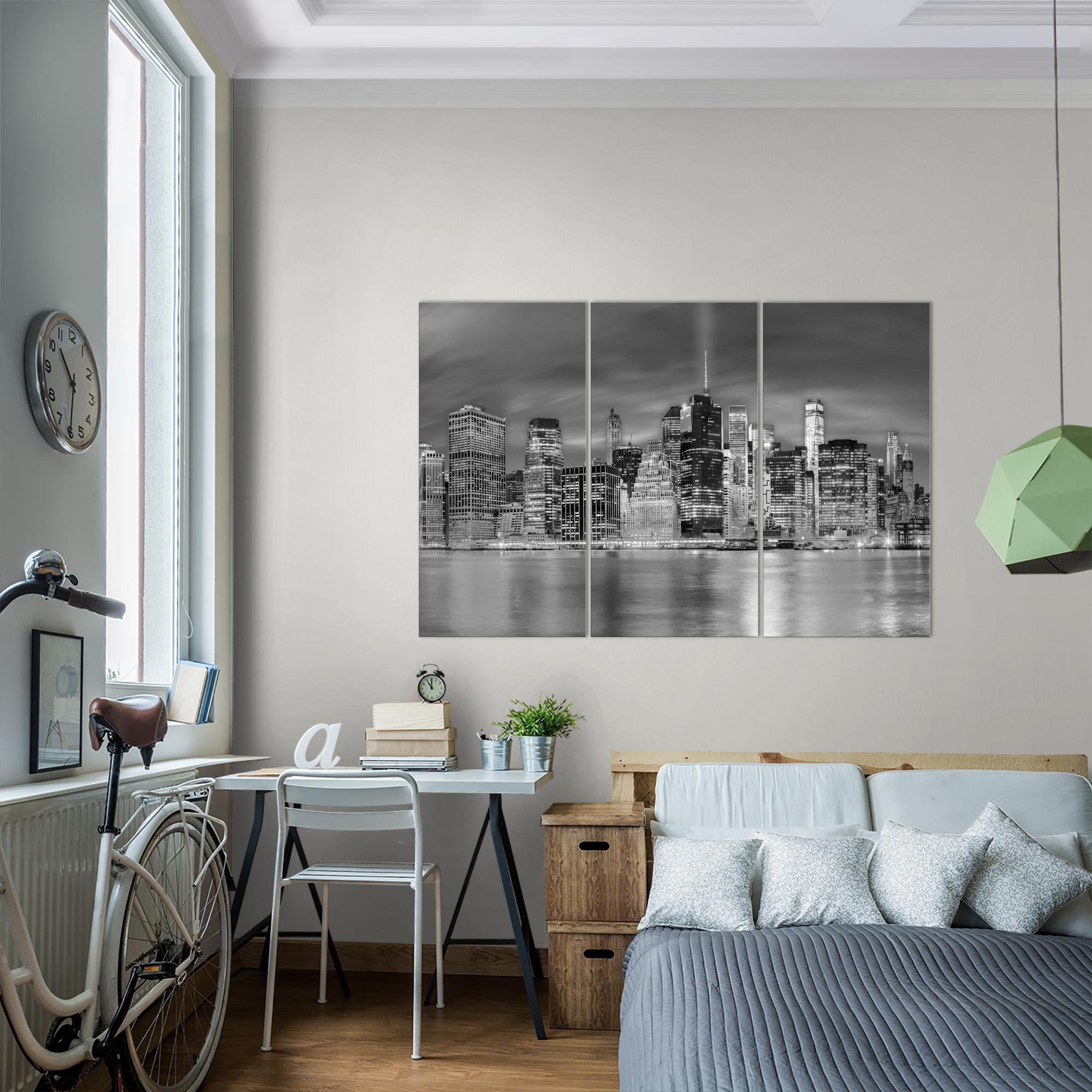 new york bild kunstdruck auf vlies leinwand xxl. Black Bedroom Furniture Sets. Home Design Ideas