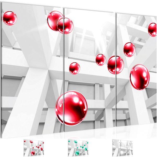 3D - Kugeln BILD KUNSTDRUCK  - AUF VLIES LEINWAND - XXL DEKORATION  014331P