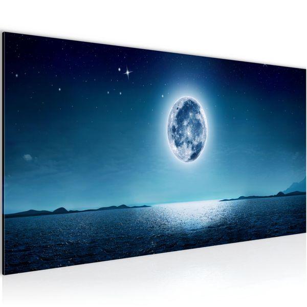 Mond Himmel BILD KUNSTDRUCK  - AUF VLIES LEINWAND - XXL DEKORATION  009612P