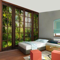 Fenster zur Landschaft VLIES FOTO WANDTAPETE - XXL DEKORATION RUNA  9383cP  Bild 6