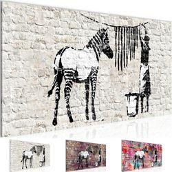 Banksy Washing Zebra BILD KUNSTDRUCK  - AUF VLIES LEINWAND - XXL DEKORATION  012912P  Bild 1