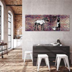 Banksy Washing Zebra BILD KUNSTDRUCK  - AUF VLIES LEINWAND - XXL DEKORATION  012955P  Bild 5