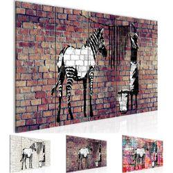 Banksy Washing Zebra BILD KUNSTDRUCK  - AUF VLIES LEINWAND - XXL DEKORATION  012955P  Bild 1