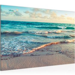 Meer Strand BILD KUNSTDRUCK  - AUF VLIES LEINWAND - XXL DEKORATION  015514P  Bild 1