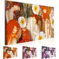 collage gustav klimt bild kunstdruck auf vlies leinwand xxl dekoration 018555p. Black Bedroom Furniture Sets. Home Design Ideas