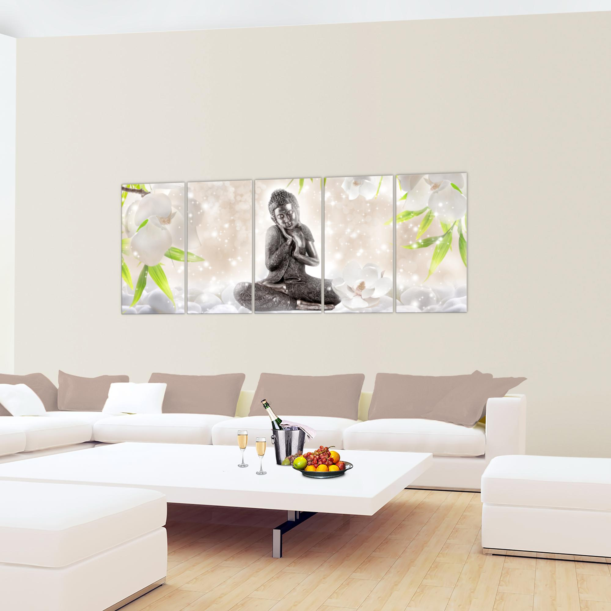 feng shui buddha bild kunstdruck auf vlies leinwand xxl dekoration 019155p. Black Bedroom Furniture Sets. Home Design Ideas