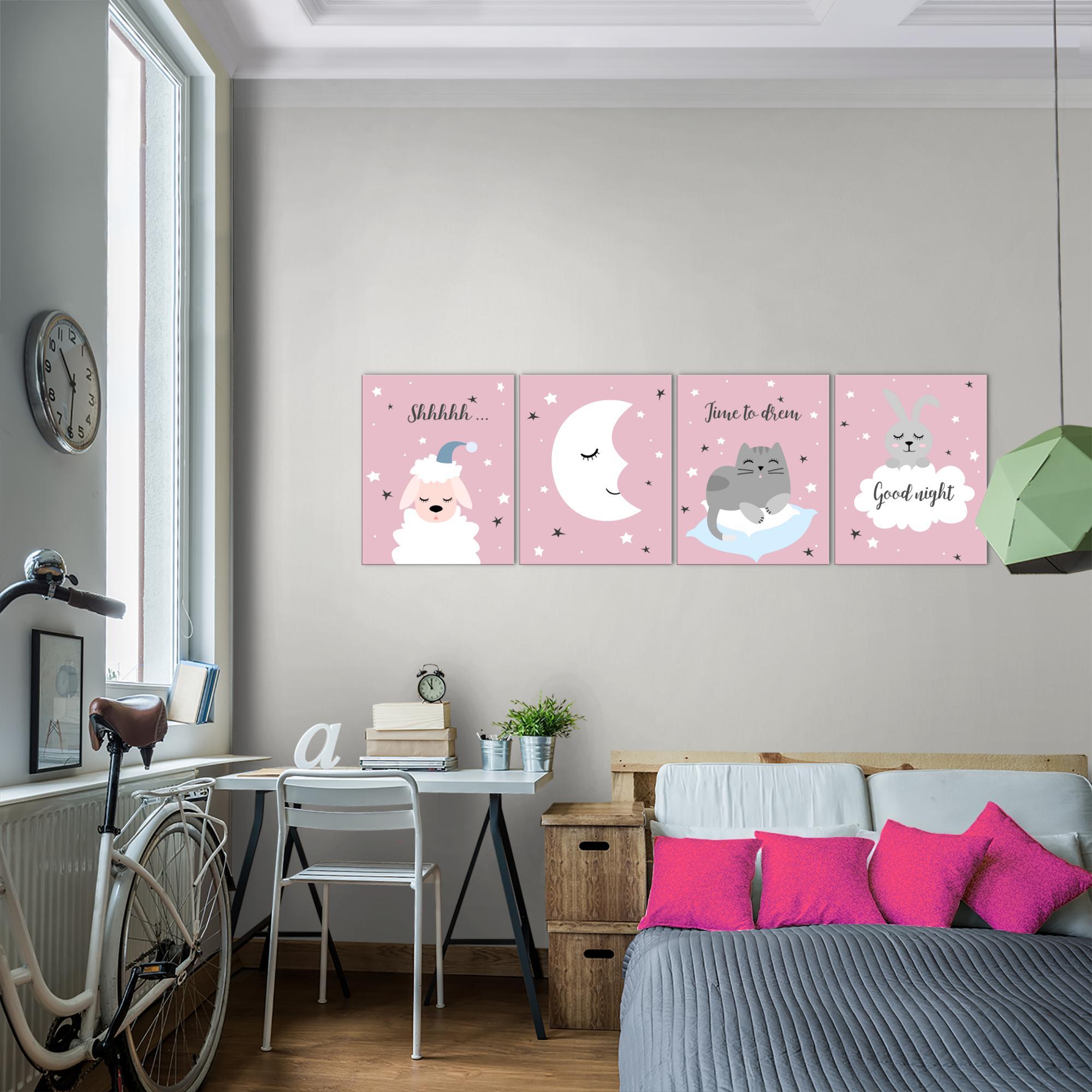 Kinderzimmer tier bild kunstdruck auf vlies leinwand - Kunstdruck kinderzimmer ...