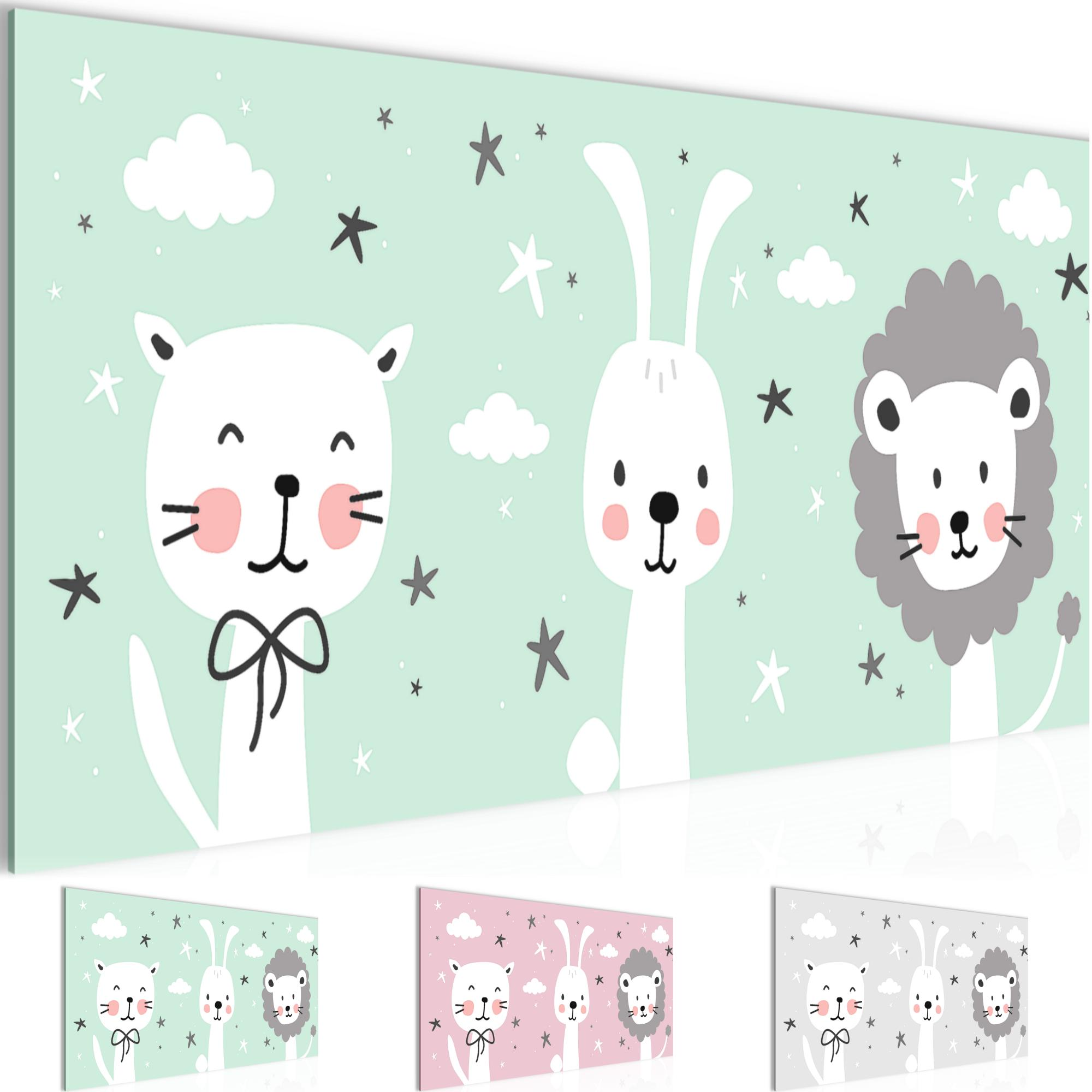 Kinderzimmer Tiere Bild Kunstdruck Auf Vlies Leinwand Xxl