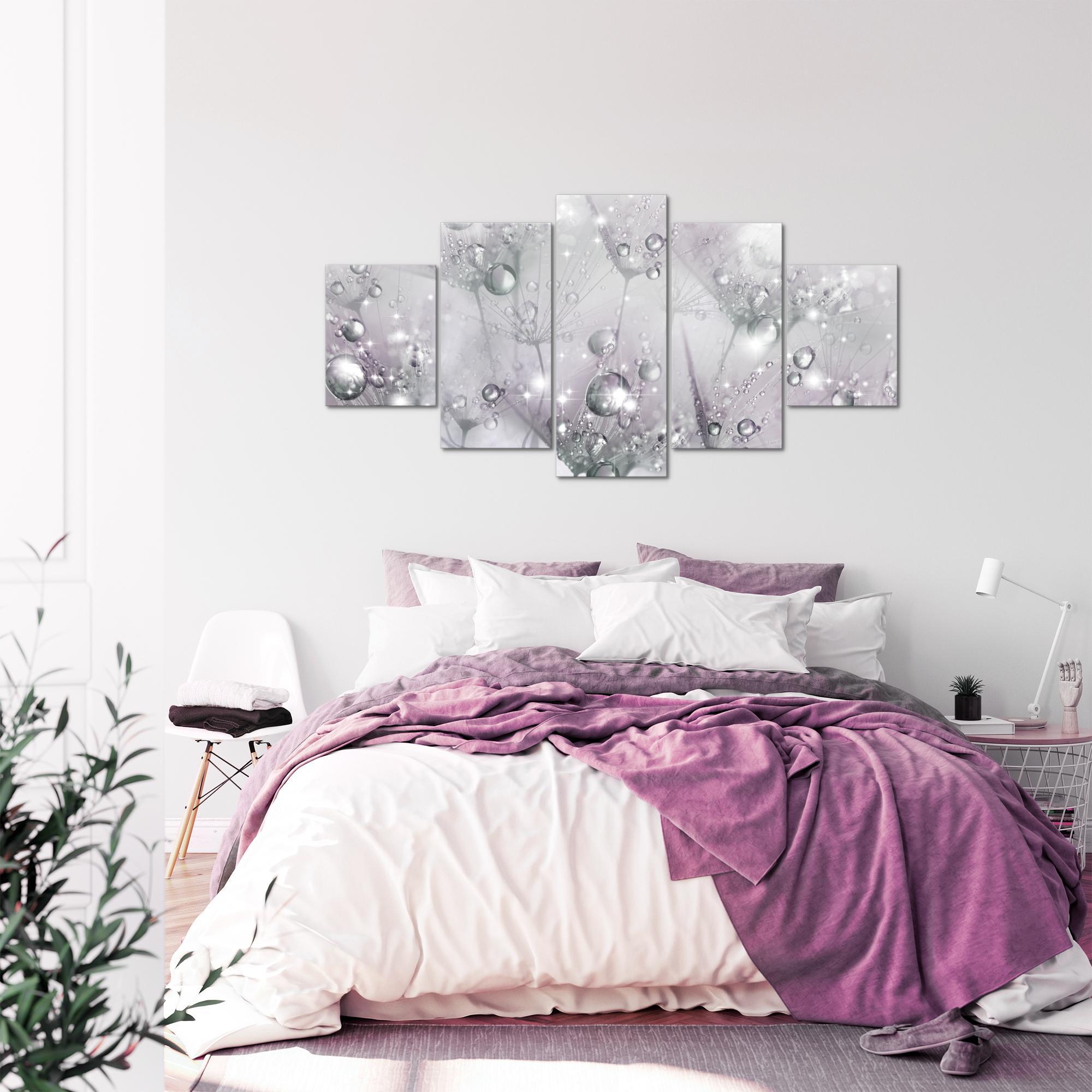 blumen pusteblume bild kunstdruck auf vlies leinwand xxl dekoration 02165p. Black Bedroom Furniture Sets. Home Design Ideas