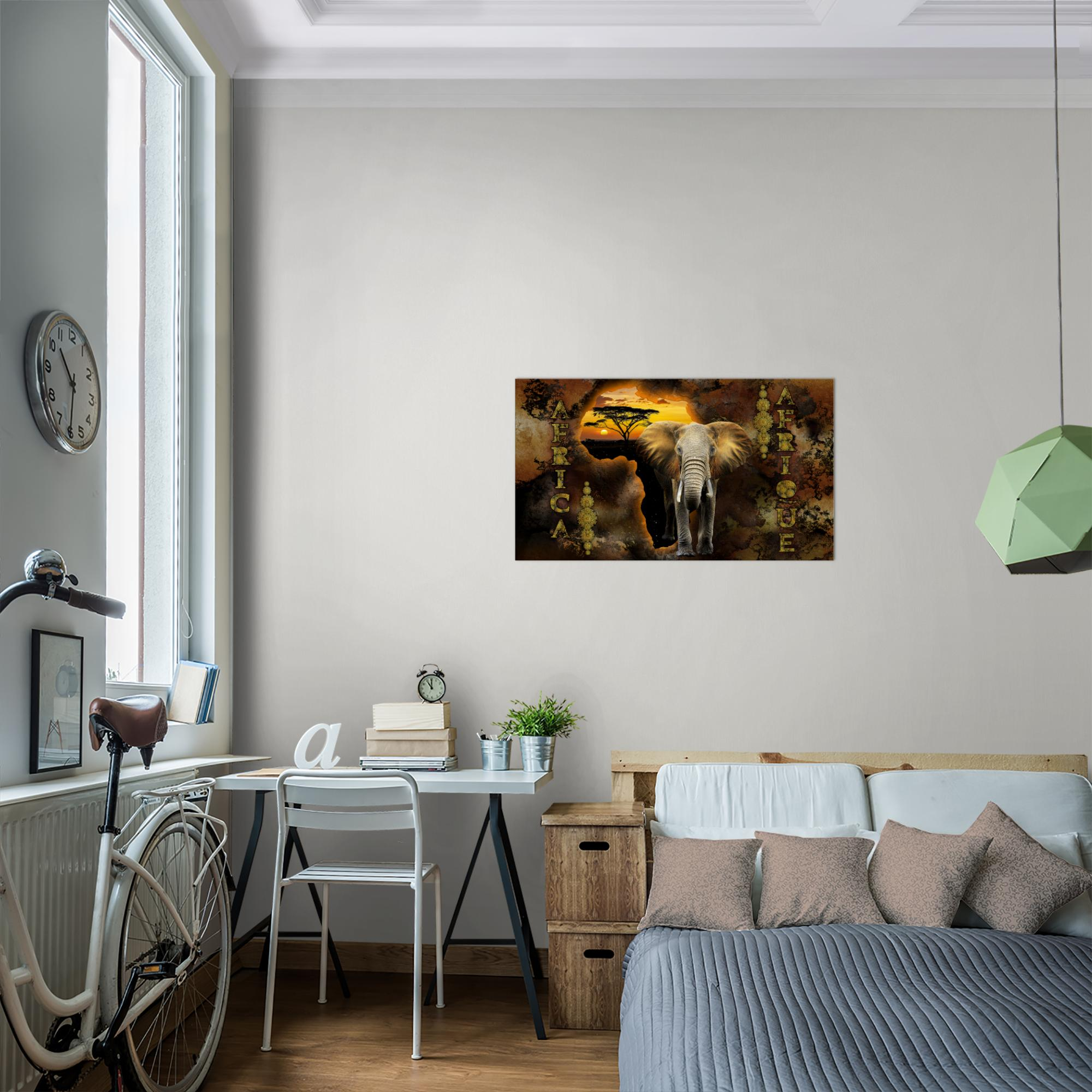 Afrika bild kunstdruck auf vlies leinwand xxl dekoration 022614p - Dekoration afrika ...