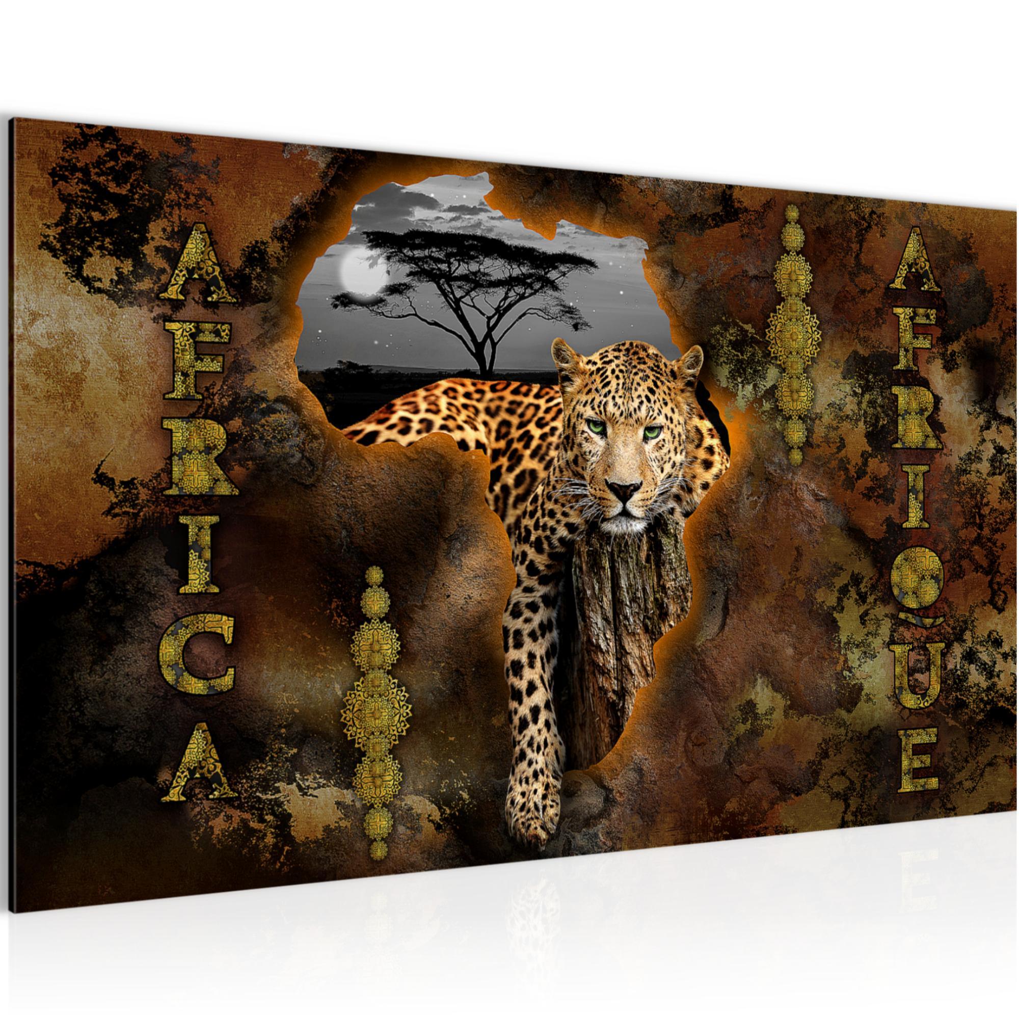 afrika bild kunstdruck auf vlies leinwand xxl dekoration 022614p. Black Bedroom Furniture Sets. Home Design Ideas