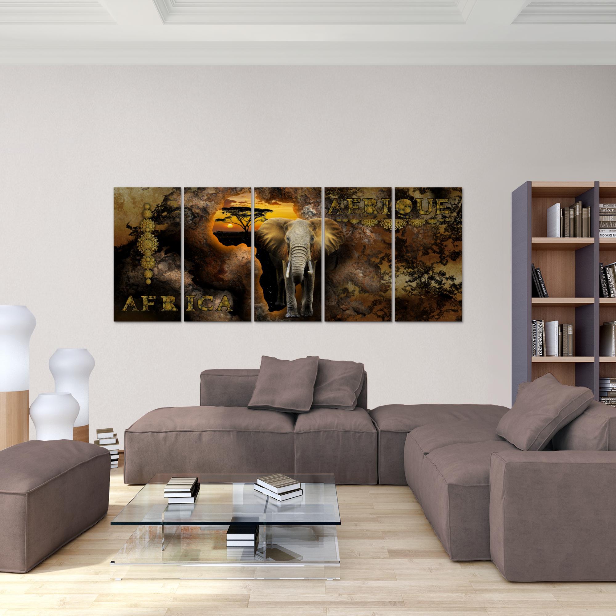 afrika bild kunstdruck auf vlies leinwand xxl dekoration 022655p. Black Bedroom Furniture Sets. Home Design Ideas