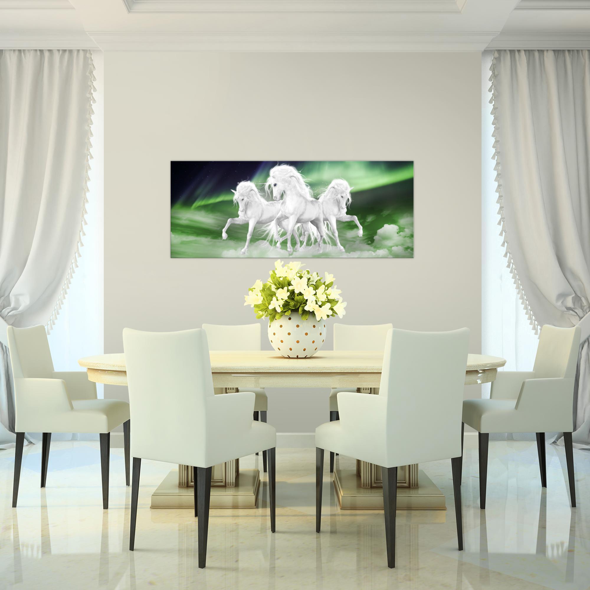 einhorn bild kunstdruck auf vlies leinwand xxl dekoration 022812p. Black Bedroom Furniture Sets. Home Design Ideas