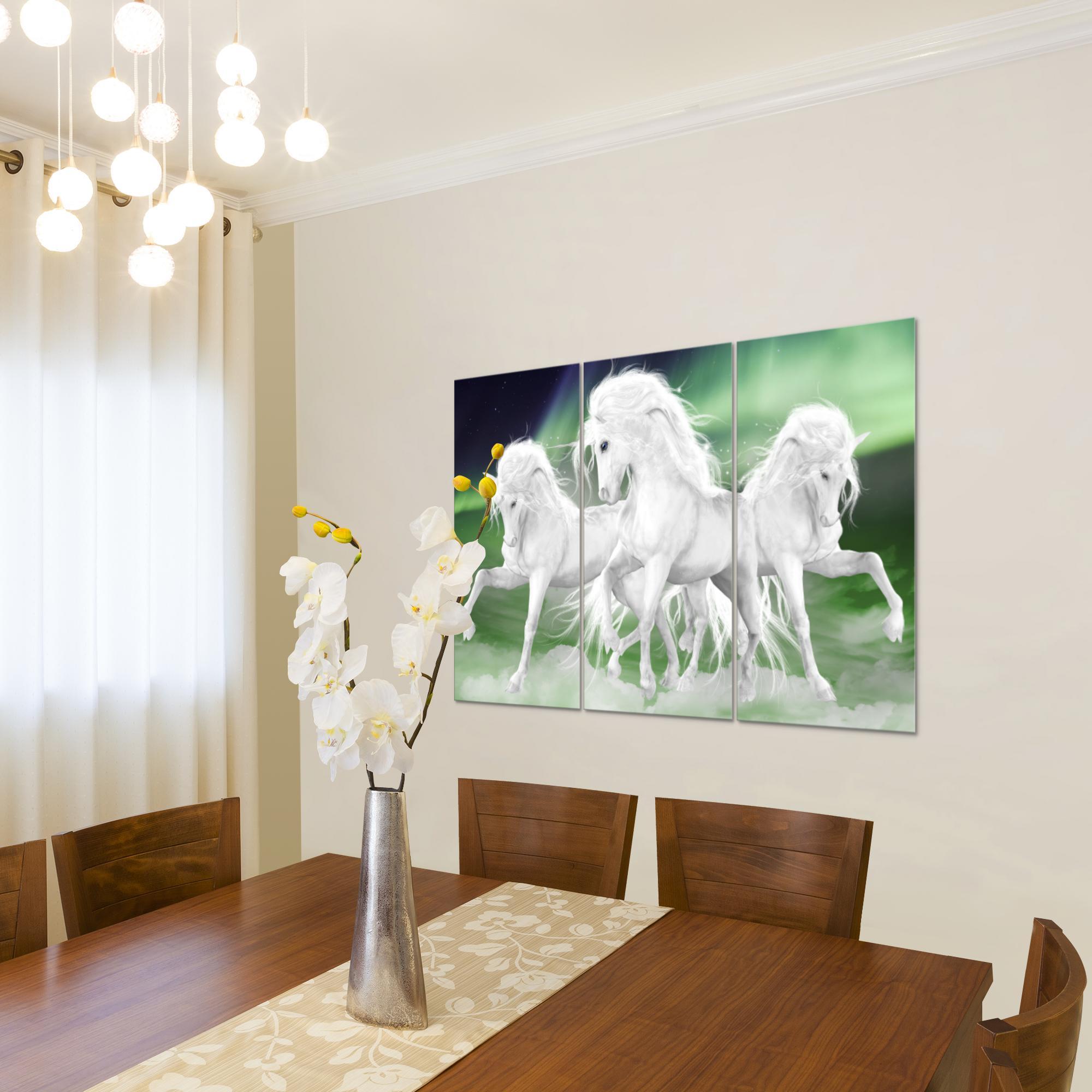 Einhorn bild kunstdruck auf vlies leinwand xxl dekoration 022831p - Einhorn dekoration ...