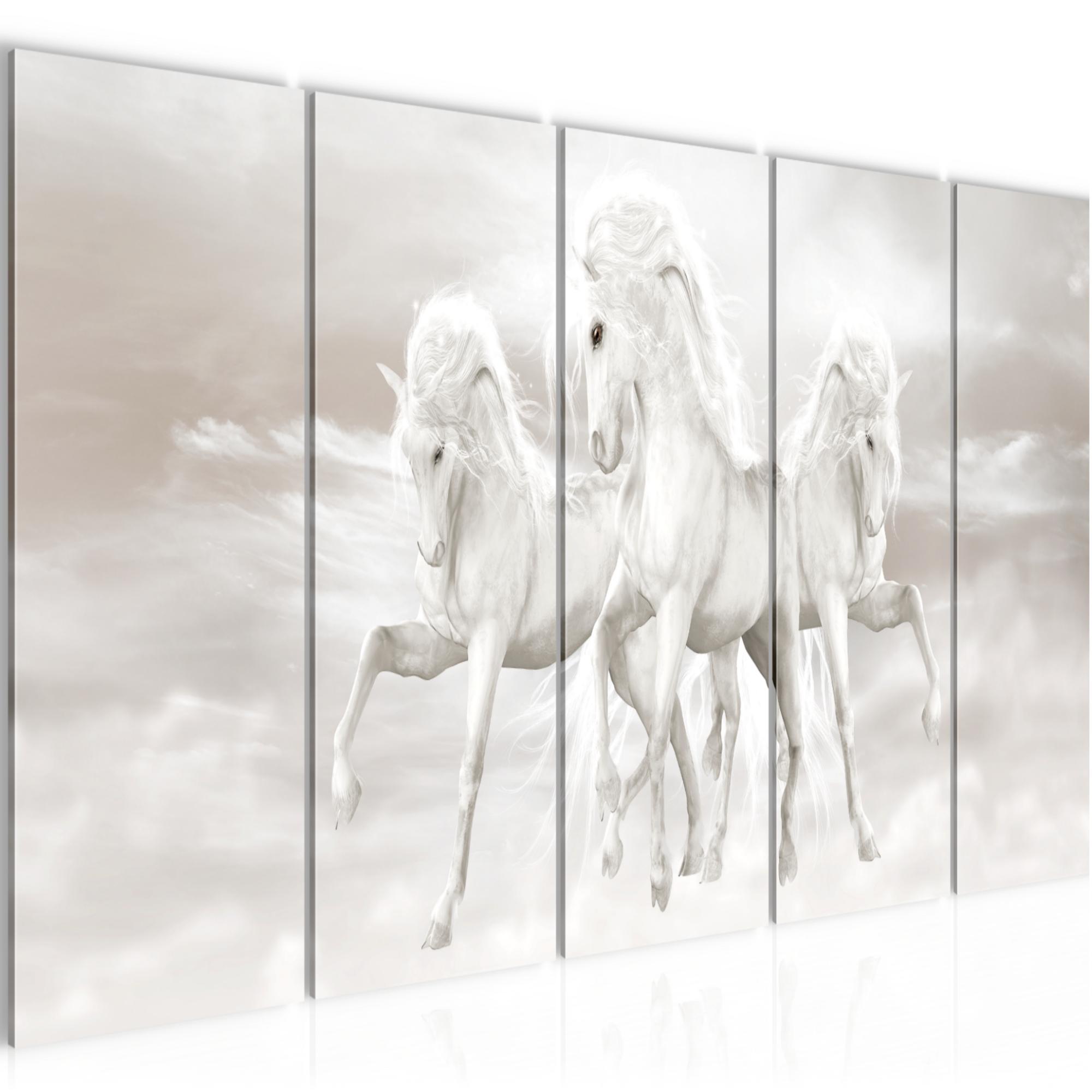 einhorn bild kunstdruck auf vlies leinwand xxl dekoration 022855p. Black Bedroom Furniture Sets. Home Design Ideas