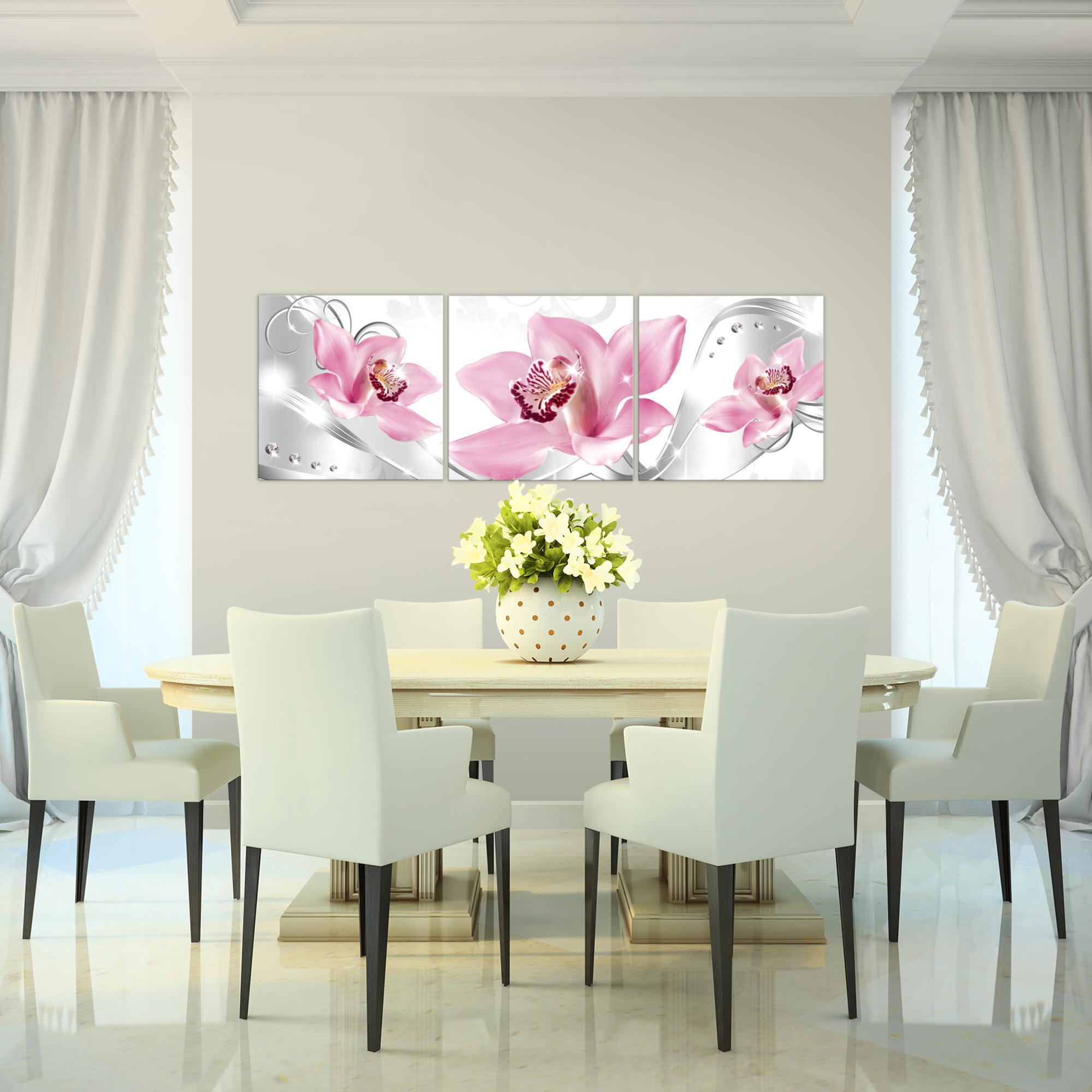blumen lilie bild kunstdruck auf vlies leinwand xxl dekoration 023134p. Black Bedroom Furniture Sets. Home Design Ideas
