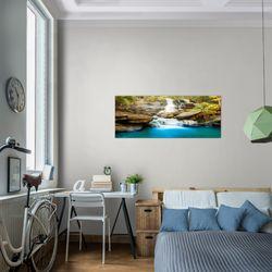 Wasserfall BILD KUNSTDRUCK  - AUF VLIES LEINWAND - XXL DEKORATION  024512P  Bild 7