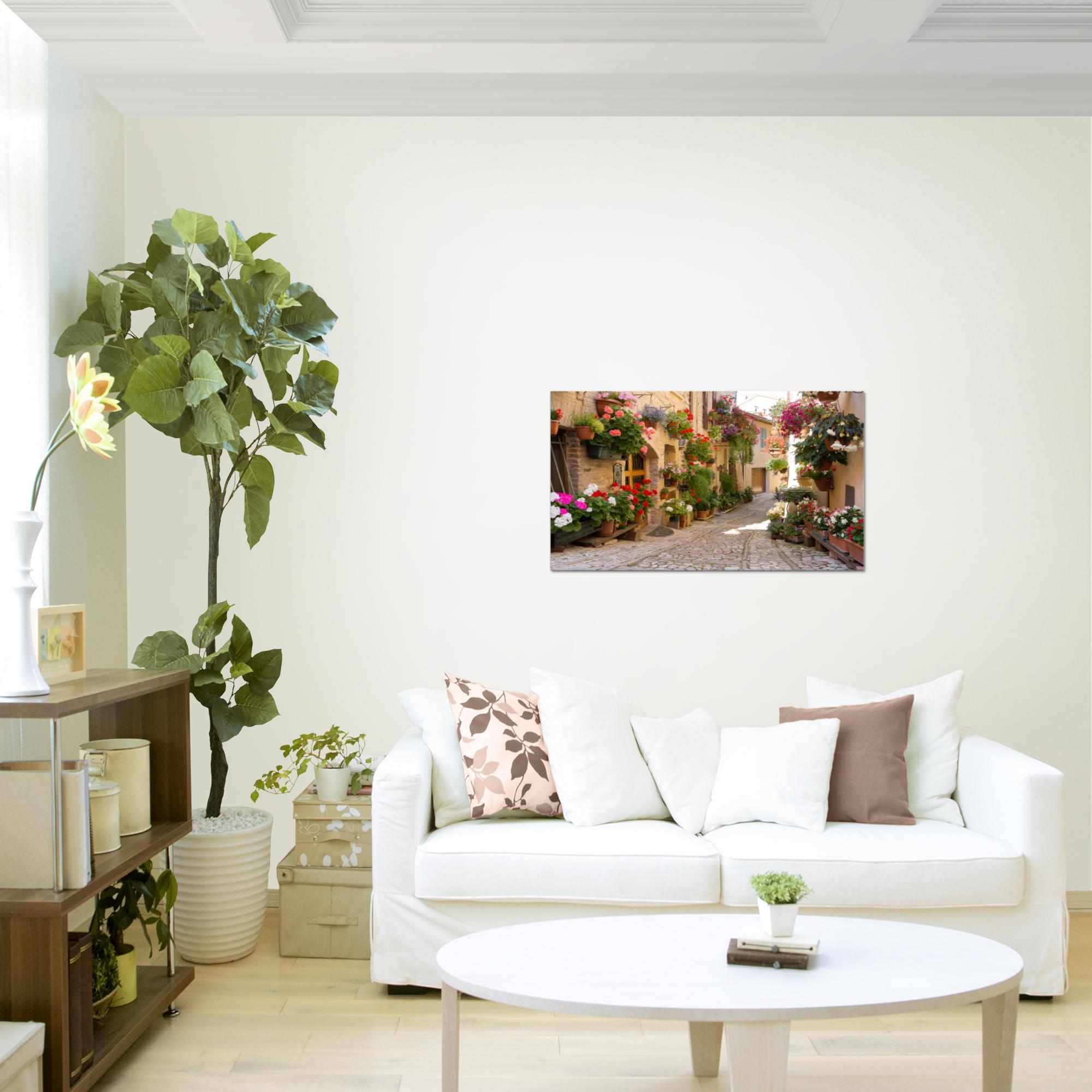 mediterran italien bild kunstdruck auf vlies leinwand xxl dekoration 024714p. Black Bedroom Furniture Sets. Home Design Ideas