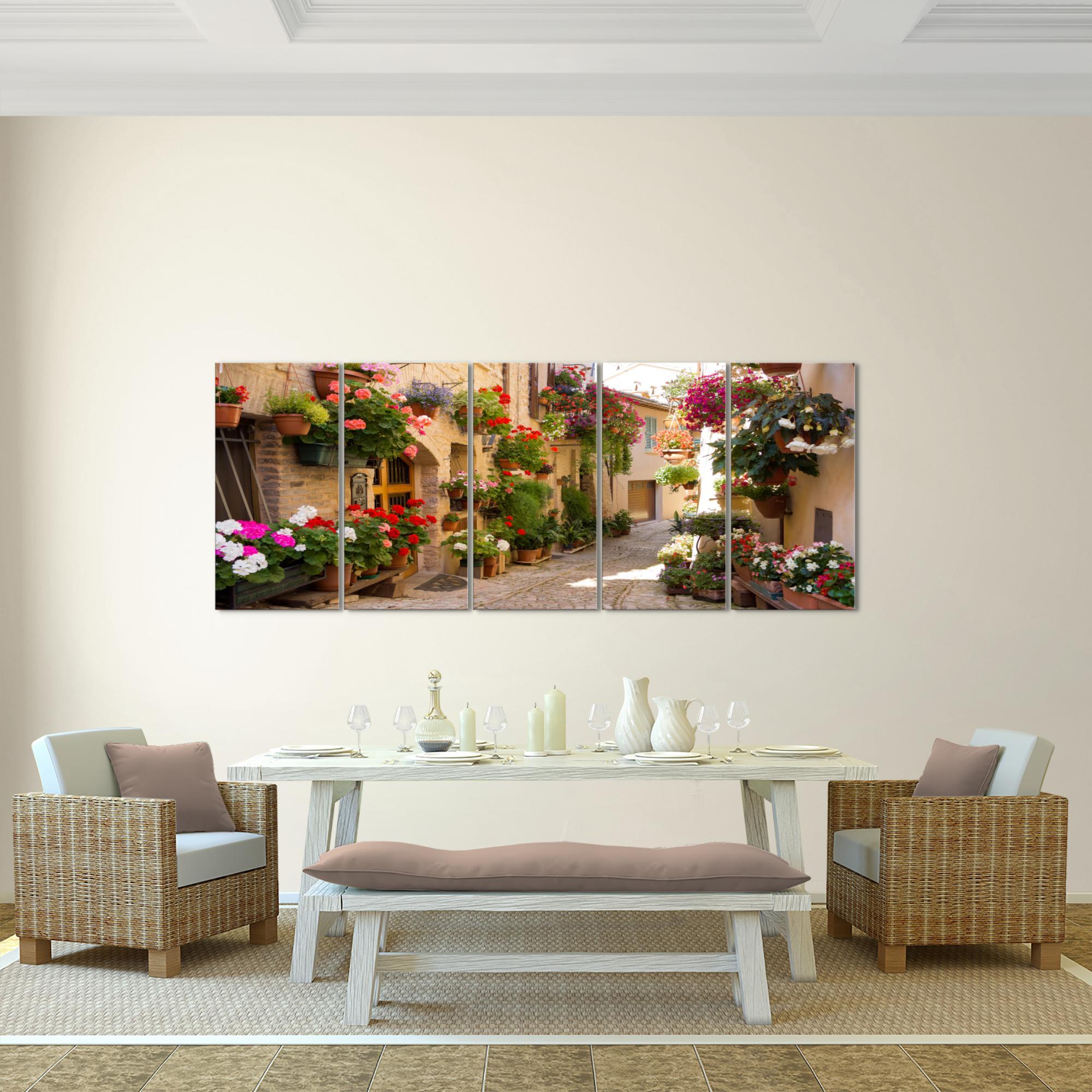 mediterran italien bild kunstdruck auf vlies leinwand xxl dekoration 024755p. Black Bedroom Furniture Sets. Home Design Ideas