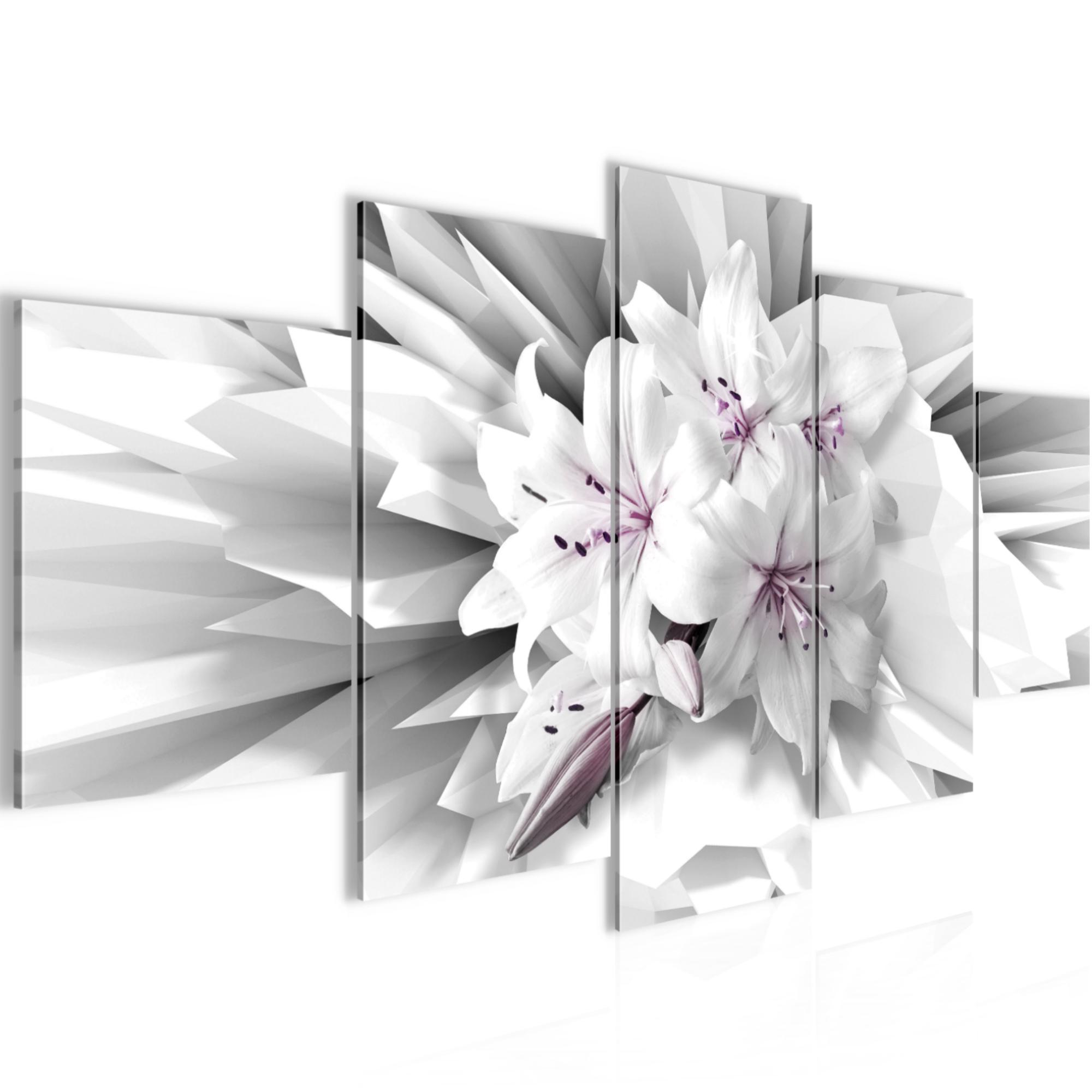 blumen 3d bild kunstdruck auf vlies leinwand xxl dekoration 02515p. Black Bedroom Furniture Sets. Home Design Ideas