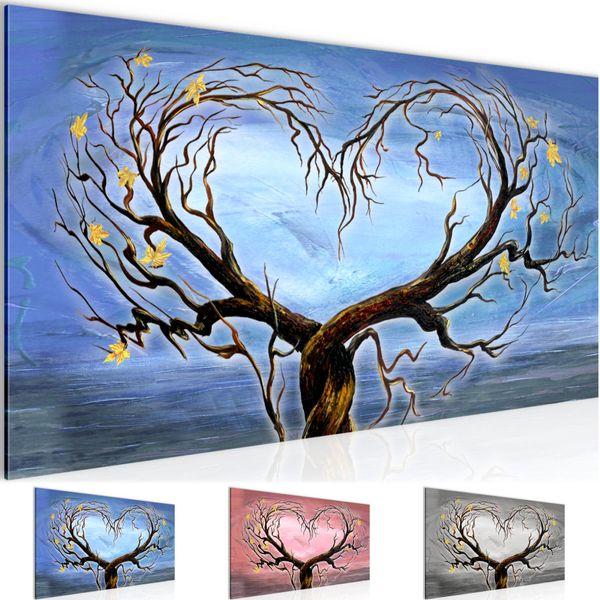 Herbst Baum Herz BILD KUNSTDRUCK  - AUF VLIES LEINWAND - XXL DEKORATION  002312P