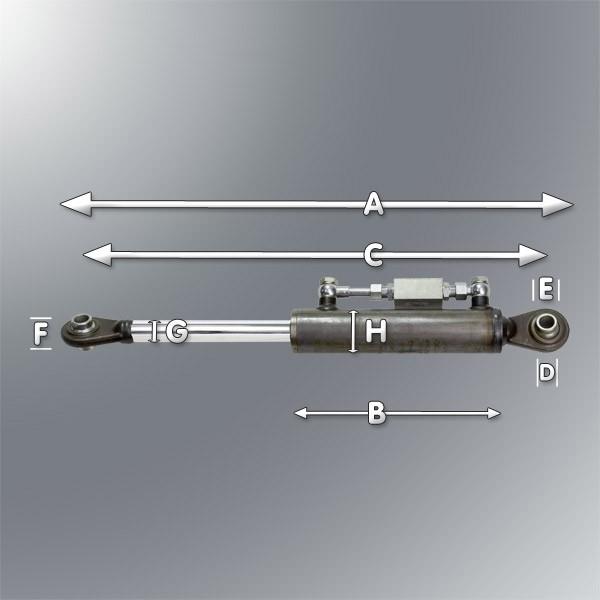 Dema Hydraulischer Oberlenker 570 Kat I mit Hydraulikschläuche im Set 52016-52005
