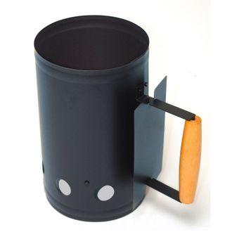 Kohleanzünder / Grillanzünder aus Metall 5 Liter Grillkamin – Bild $_i