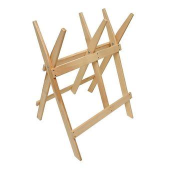 Sägebock / Holzsägebock aus Buchenholz zum Sägen von Brennholz – Bild $_i