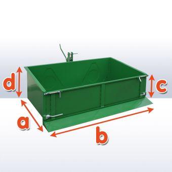 Heckcontainer 150 cm schwere Ausführung Smaragdgrün bis 500 kg – Bild $_i
