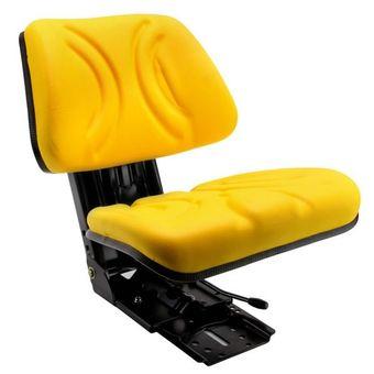 Traktorsitz / Schleppersitz Kunstleder gelb gefedert – Bild $_i