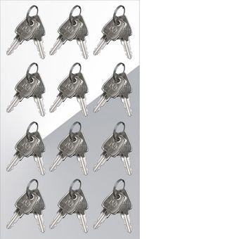 Schließfachschrank / Fächerschrank 12 Fächer rot/anthrazit 88x50x180 – Bild $_i