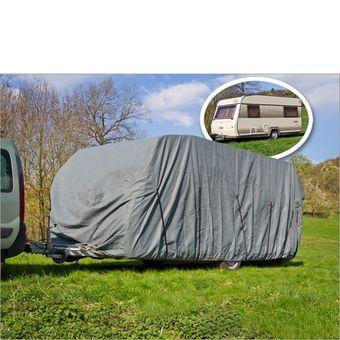 Wohnwagen / Wohnmobil Ganzgarage Abdeckplane grau 520x225x220 cm – Bild $_i
