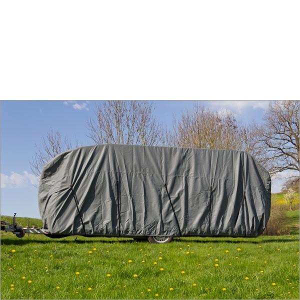 Dema Wohnwagen / Wohnmobil Ganzgarage Abdeckplane grau 610x225x220 cm 24534