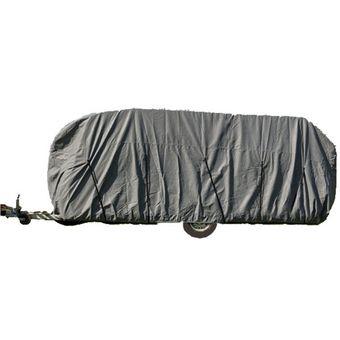 Wohnwagen / Wohnmobil Ganzgarage Abdeckplane grau 400x225x220 cm – Bild $_i