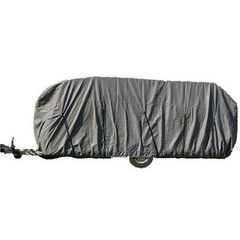 Wohnwagen / Wohnmobil Ganzgarage Abdeckplane grau 550x225x220 cm – Bild $_i