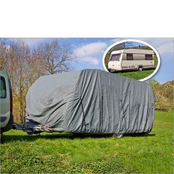 Wohnwagen / Wohnmobil Ganzgarage Abdeckplane grau 700x225x220 cm – Bild $_i