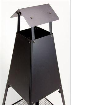 Design Grillkamin / Gartenkamin IBIZA mit Feuerkorb Aschekasten Haken – Bild $_i