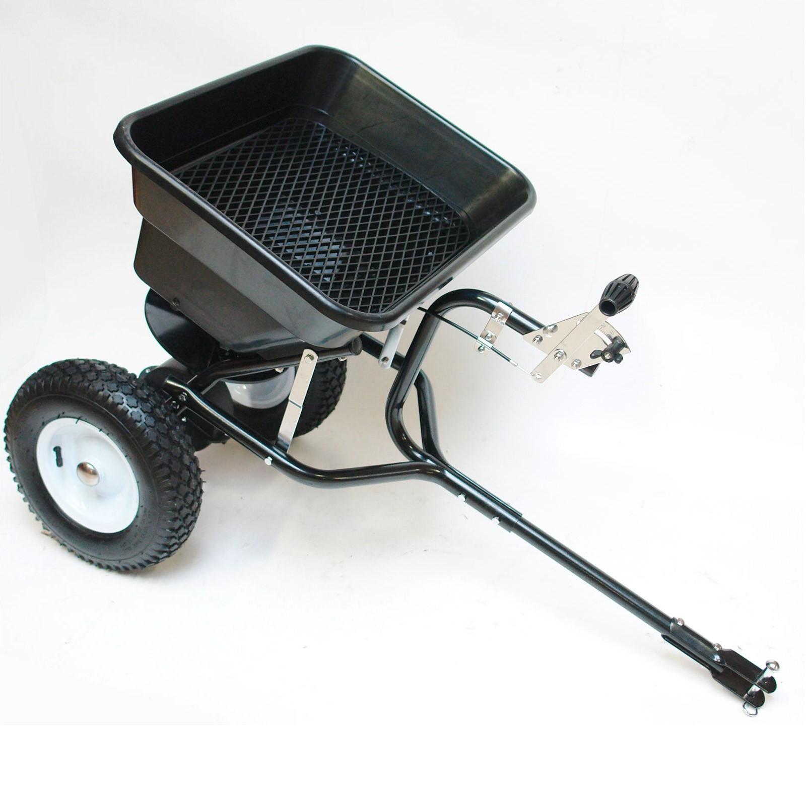 Dema Streuwagen / Schleuderstreuer für Rasentraktor 45 Liter mit Anhängerkupplung 24989