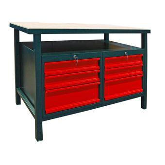 Profi Werkbank / Werktisch mit 6 Schubladen anthrazit – Bild $_i
