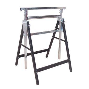 Metall Klappbock / Unterstellbock mit Rolle höhenverstellbar 68x60x81-131 cm