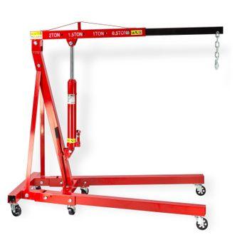 Werkstattkran / Motorkran bis 2t / 2000 kg - klappbar - rot – Bild $_i