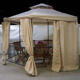 Metall Pavillon / Gartenpavillon 6-Eck mit Dach & Fliegenschutznetz 1,85 m