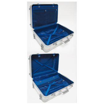 Alukoffer / Pilotenkoffer 2 Stück im Set aus Aluminium – Bild $_i