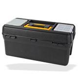 Kunststoff Werkzeugkoffer / Werkzeugkiste mit Werkzeugträger