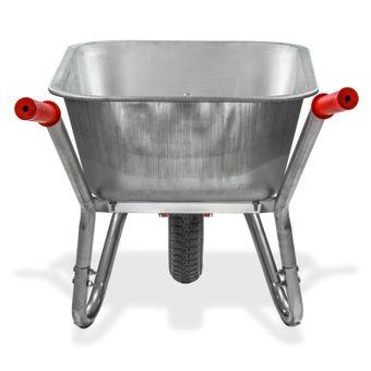 Metall Schubkarre Schubmulde Bauschubkarre Gartenschubkarre 100L Luftbereifung – Bild $_i