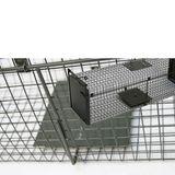 Kastenfalle / Lebendfalle 100 x 28 x 28 cm 2-türog (groß)