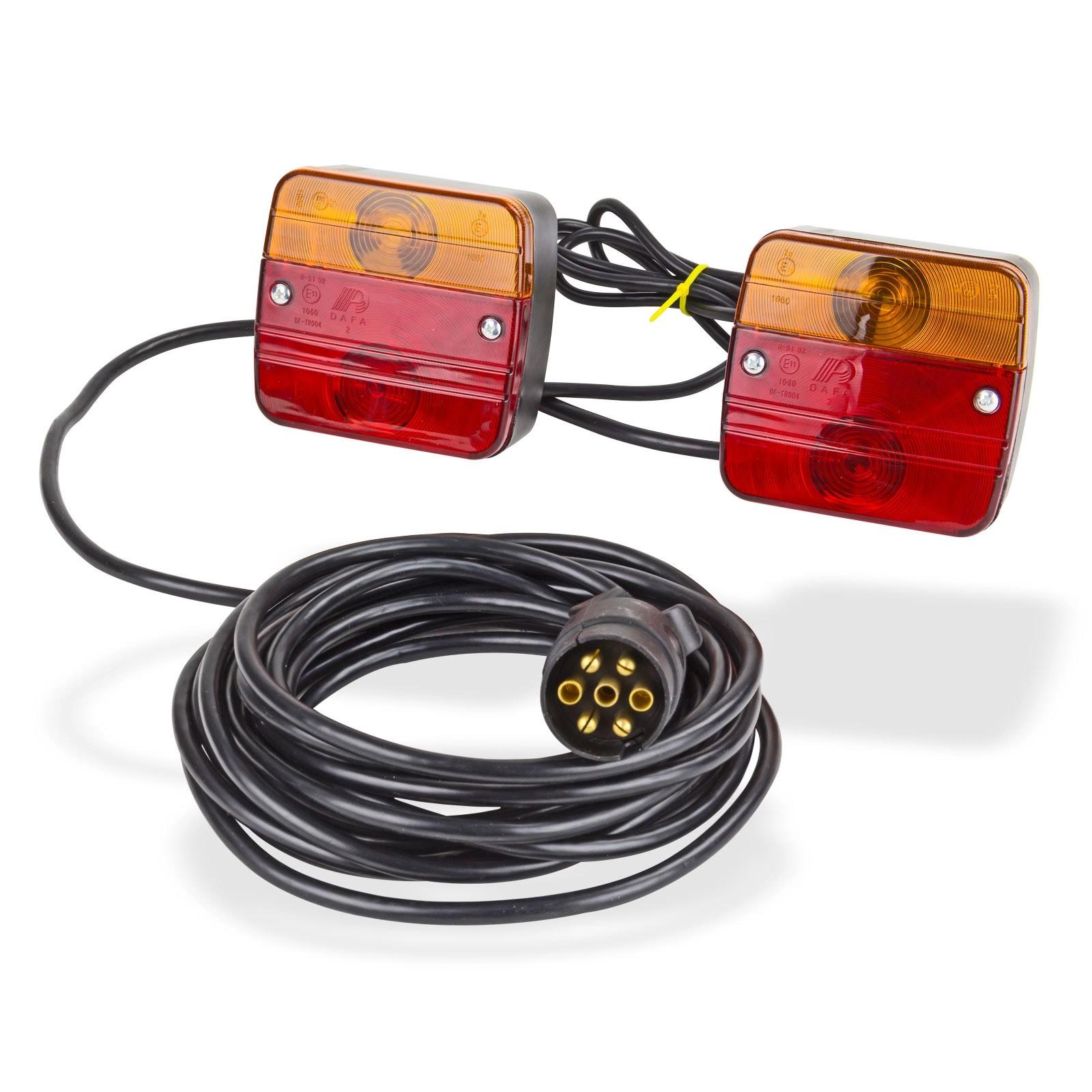 Anhänger Beleuchtung Set inkl Magnet Rücklicht Rückleuchten 7-pol 12V