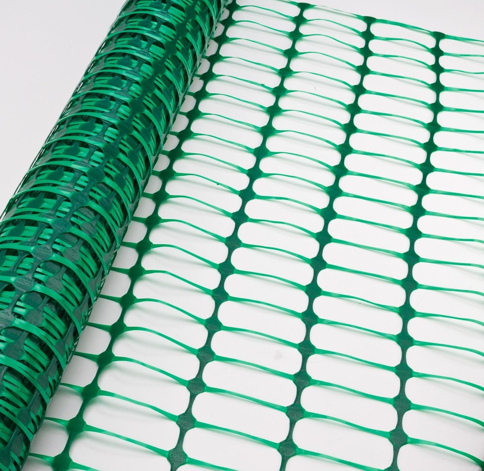 Dema Schutznetz / Bauzaun / Absicherungszaun Grün 50qm 50x1 m 31249