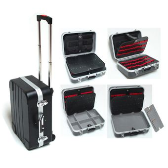 Hartschalen Werkzeugtrolley / Pilotenkoffer ABS schwarz 6+ – Bild $_i